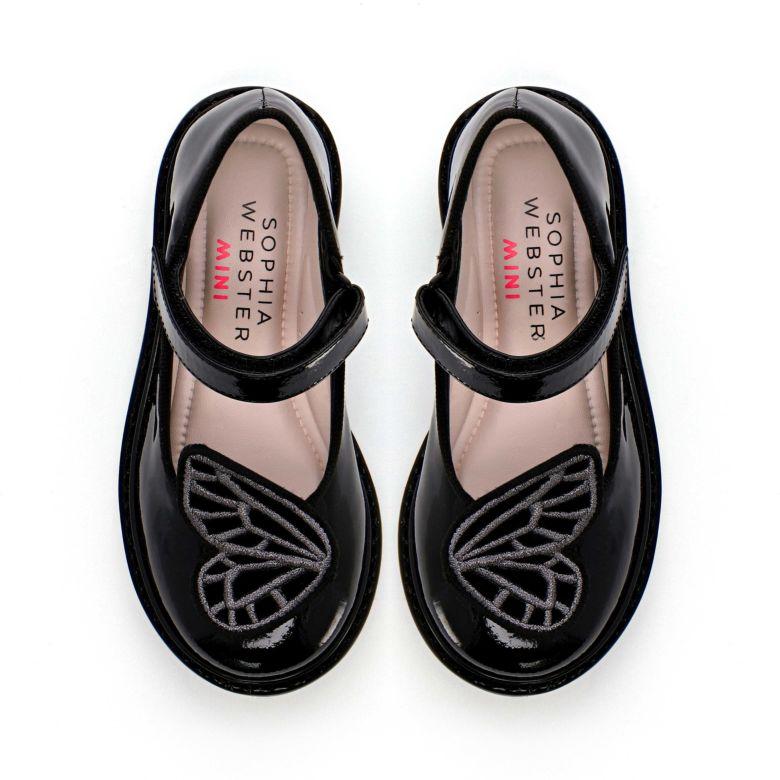Butterfly School Shoe Black | Sophia