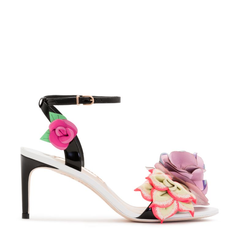 Jumbo lilico flower-embroidered sandals