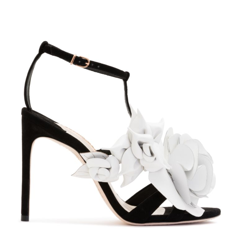 Jumbo Lilico Suede Sandal in Black/White