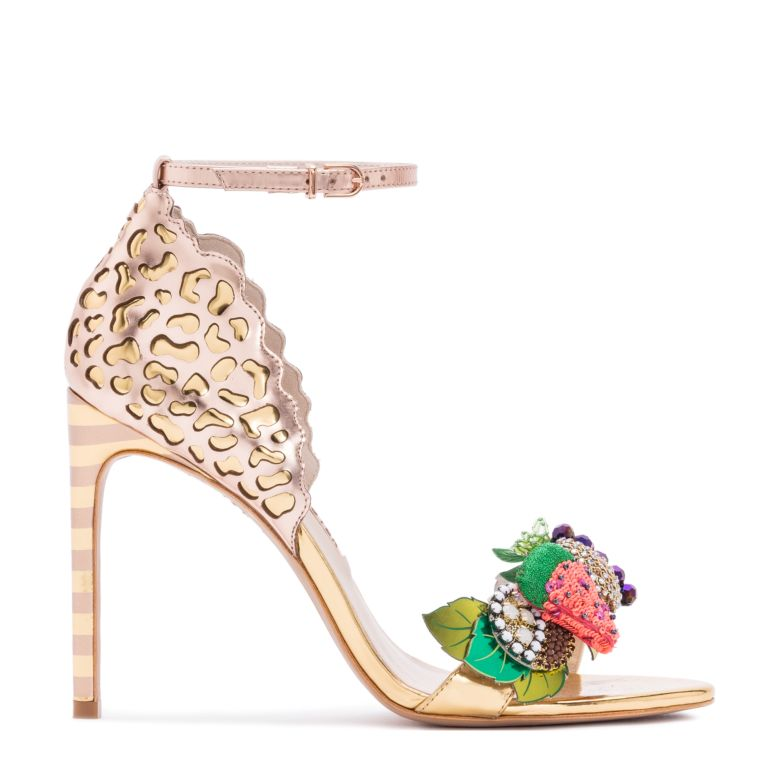 Multicoloured Lilico Fruit 100 Leather Sandals in Metallic