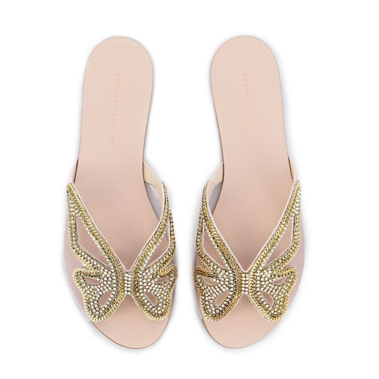 Madame Butterfly Crystal Slide Dusty
