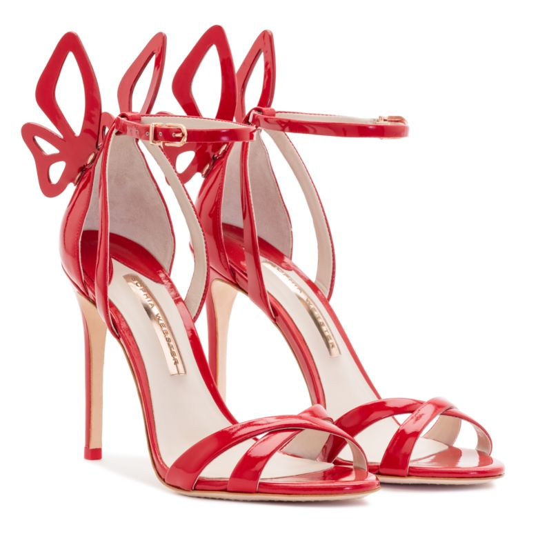 SOPHIA WEBSTER Madame Chiara Sandals 100, Red