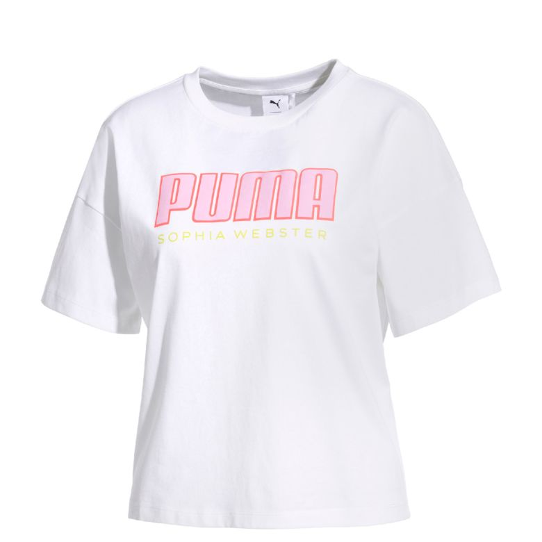 puma x sophia webster logo tee white sophia webster