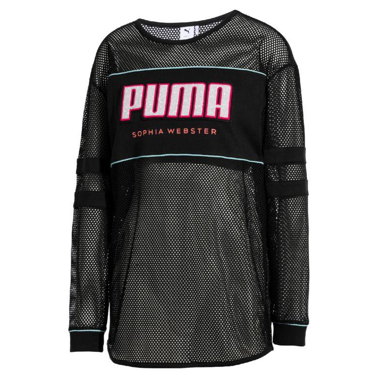 puma x sophia webster logo tee black sophia webster