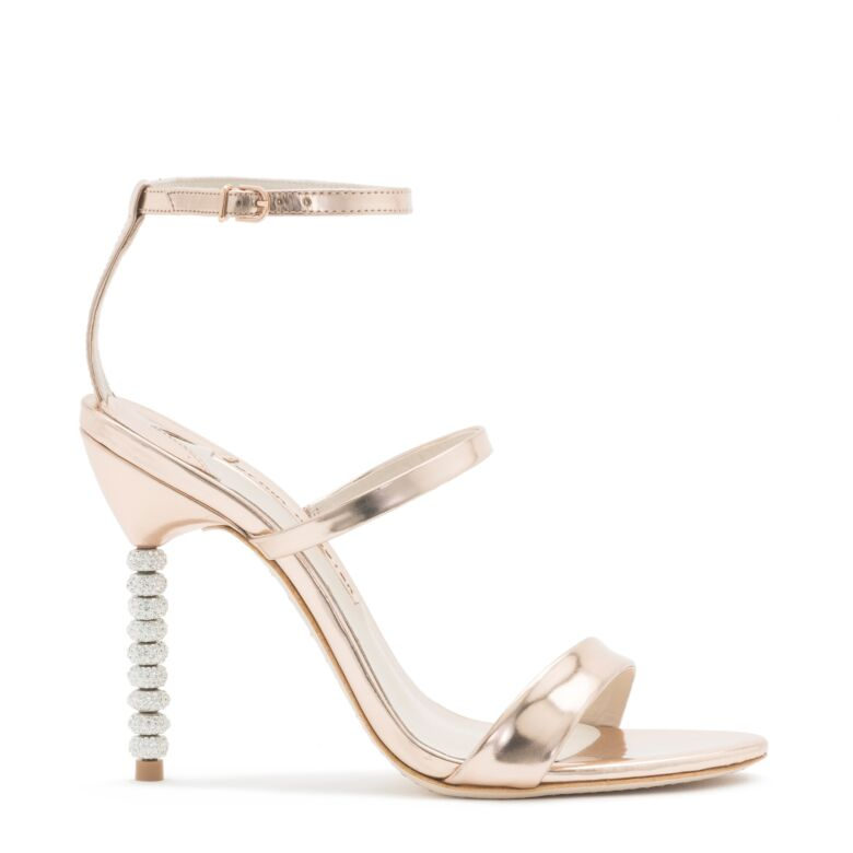 Rosalind Crystal-embellished Metallic Leather Sandals - Silver Sophia Webster G1emsKR