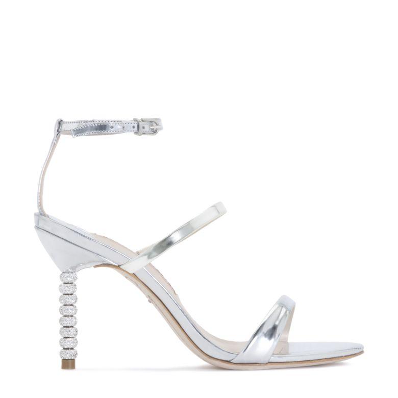 silver metallic rosalind 85 leather sandals Sophia Webster LDzedJ2