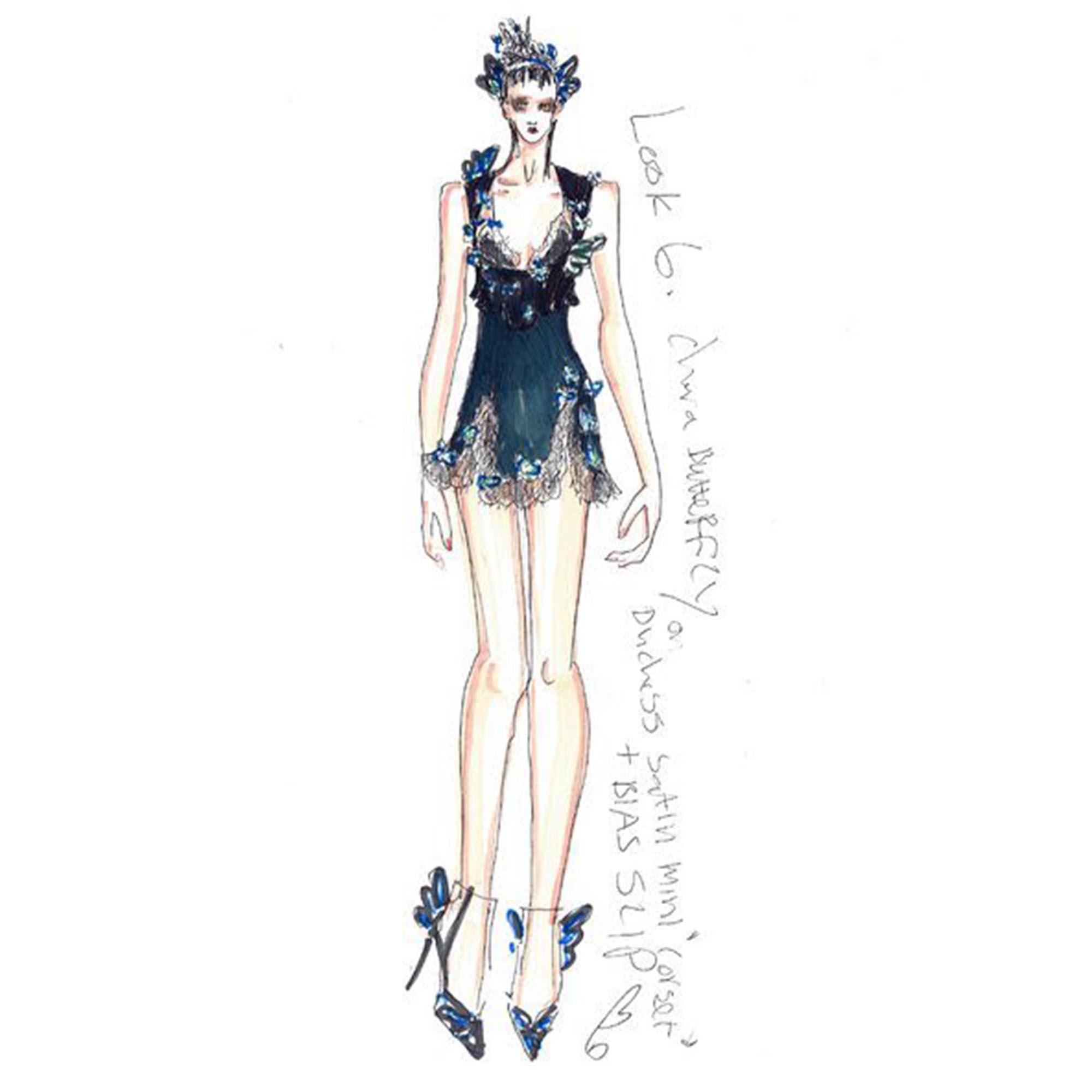 Ed Meadham Sketch for Sophia Webster AW16